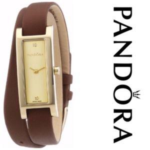 Authentic PANDORA 18K Gold Plated Diamond Watch